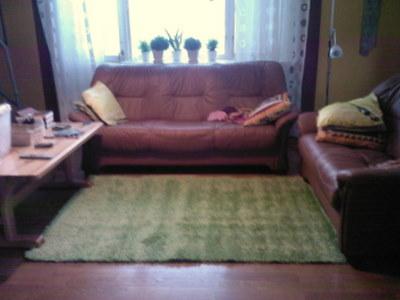 Ny matta i vardagsrummet