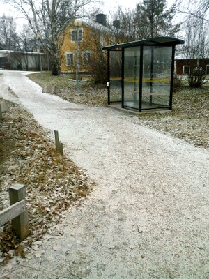 Snö på marken