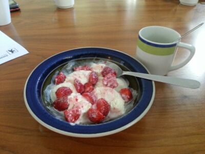 Jordgubbar och glass!